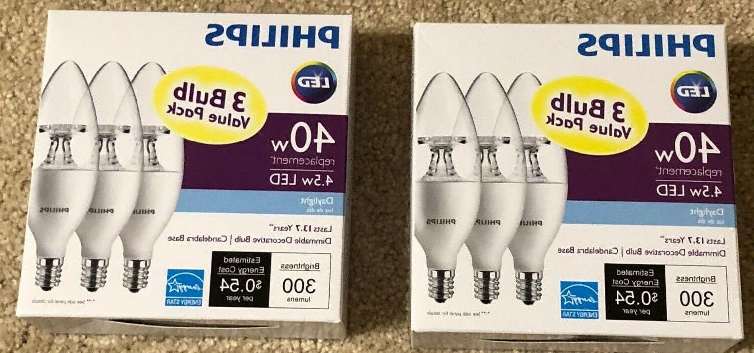 2 x 3 pack 40w equivalent daylight