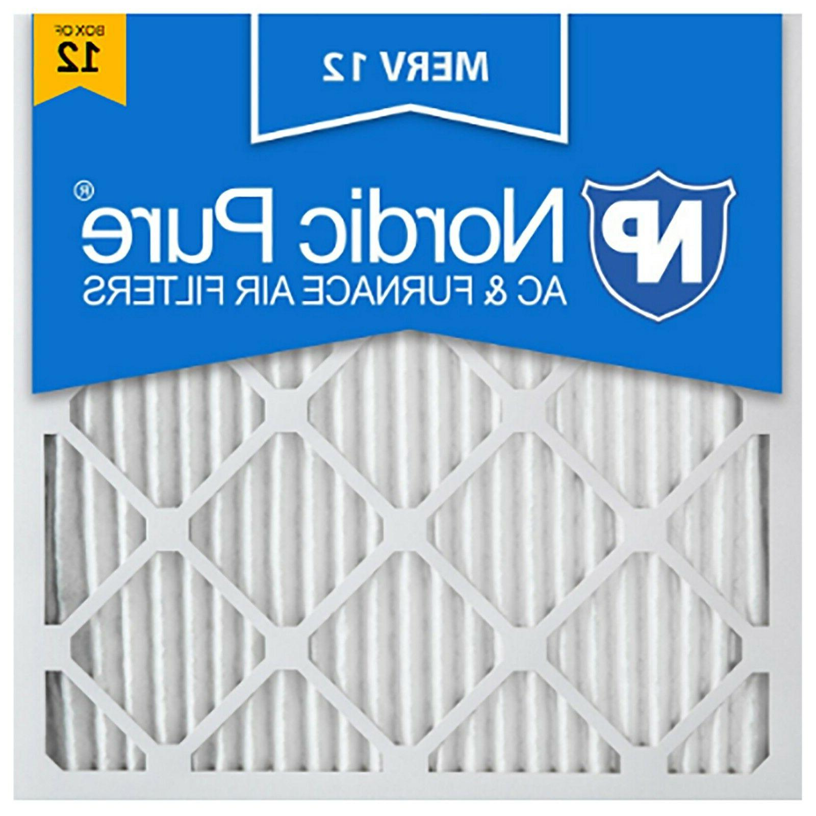 20x20x1 air filter merv 12 pleated electrostatic