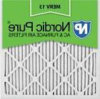 Nordic Pure 20x20x1M13-12 Pleated AC Furnace Air Filter,Pack