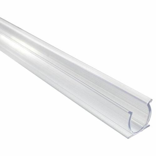 24 Inch x 1/2 Inch Mounting Track - Clear Channel 12/