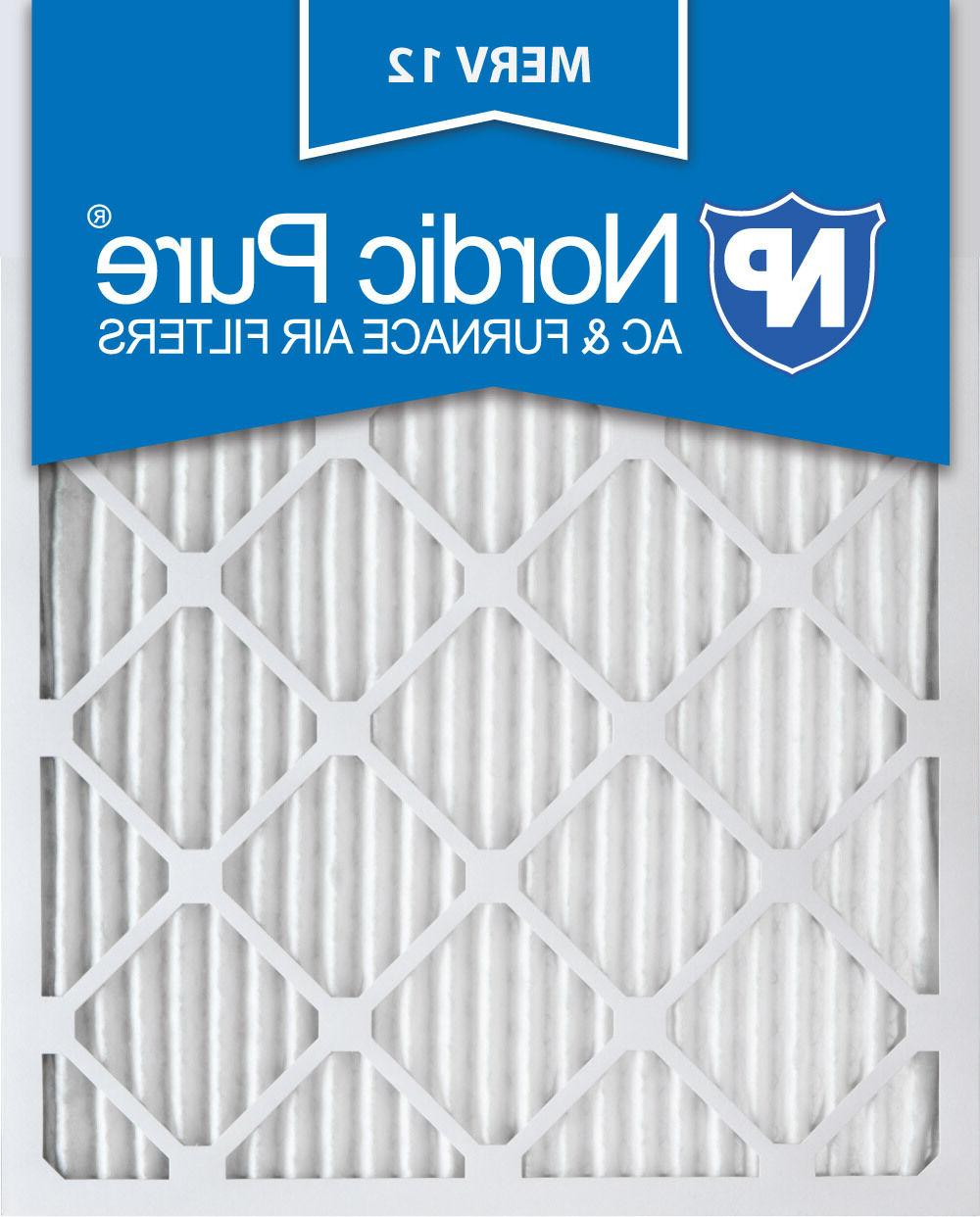 3 or 6 Pack Nordic Pure 20x25x1 Pleated Furnace Air Filters