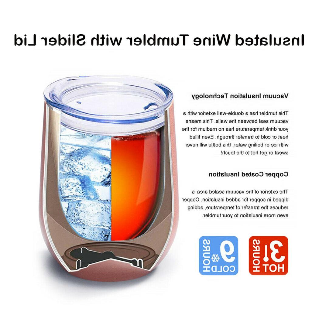 6 Pack Stainless Steel Tumbler Stemless