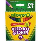 Crayola 68-4112 Short Barrel Colored Pencils 12 Count; 24 pa