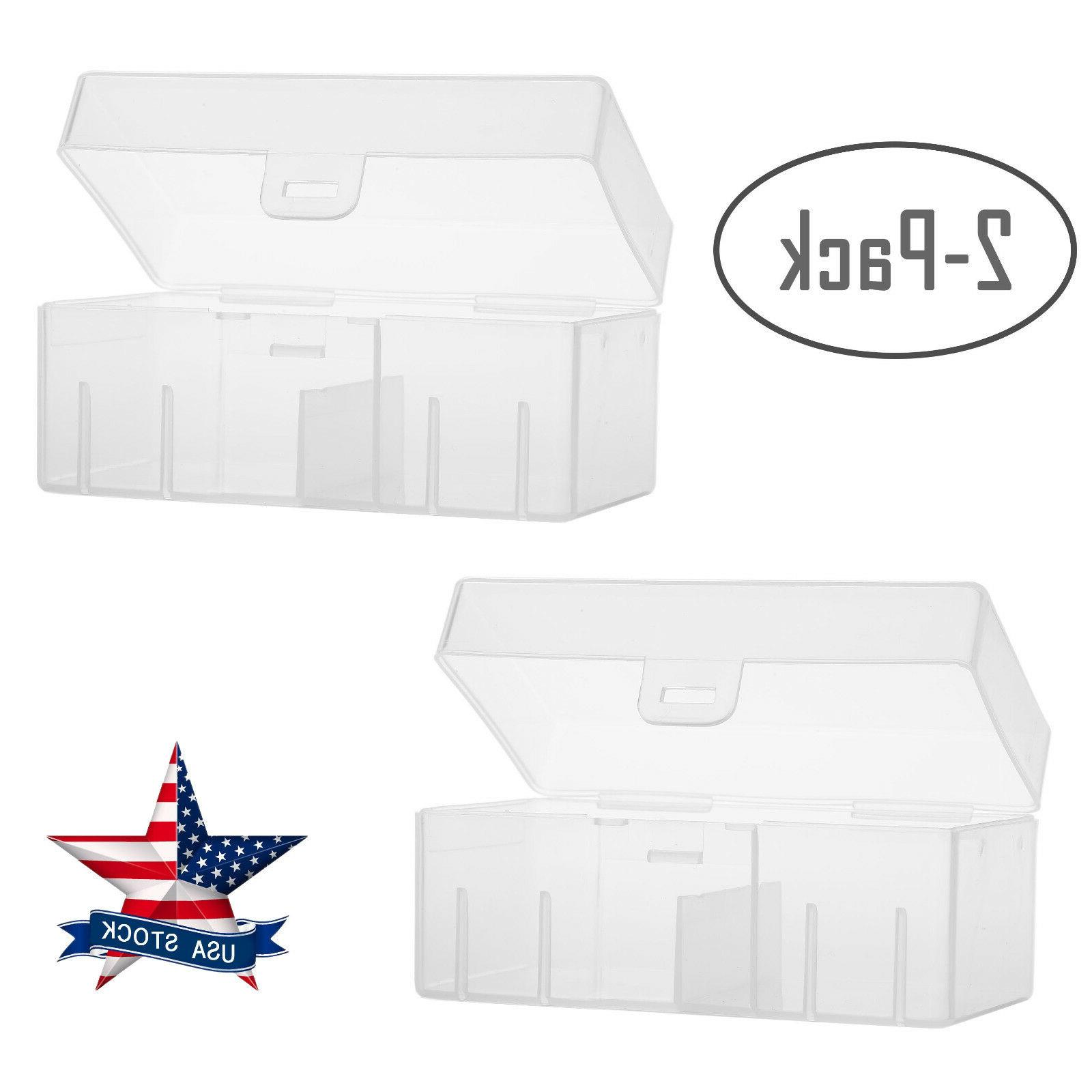 9v Battery Storage Case/Box/Organizer/Holder Clear for 12×9