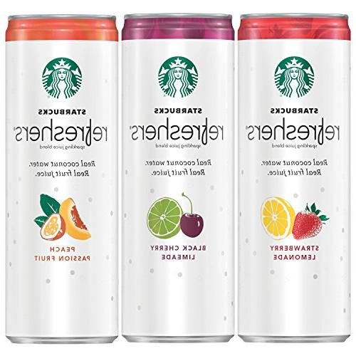 Starbucks Refreshers 3 Flavor Variety Pack w/ Coconut Water,