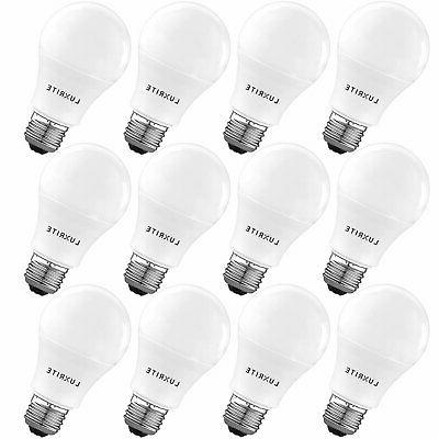 Luxrite A19 LED Light Bulb 60W Enclosed Fixture Rated 4000K