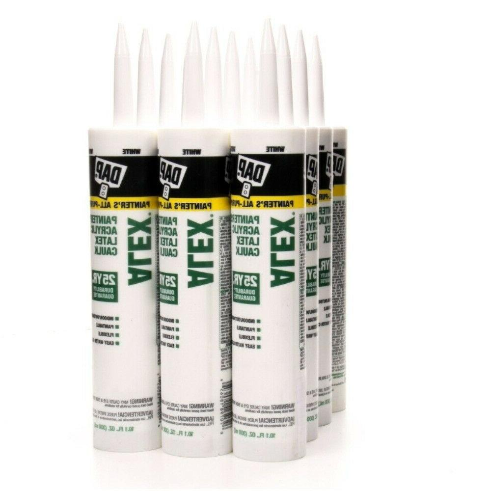 alex painters latex caulk white paintable interior