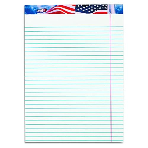 american pride recycled writing tablet