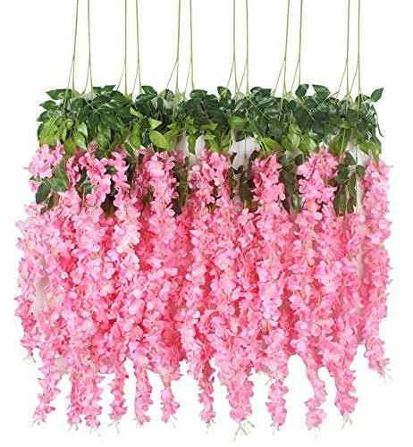 artificial wisteria hanging garland flowers