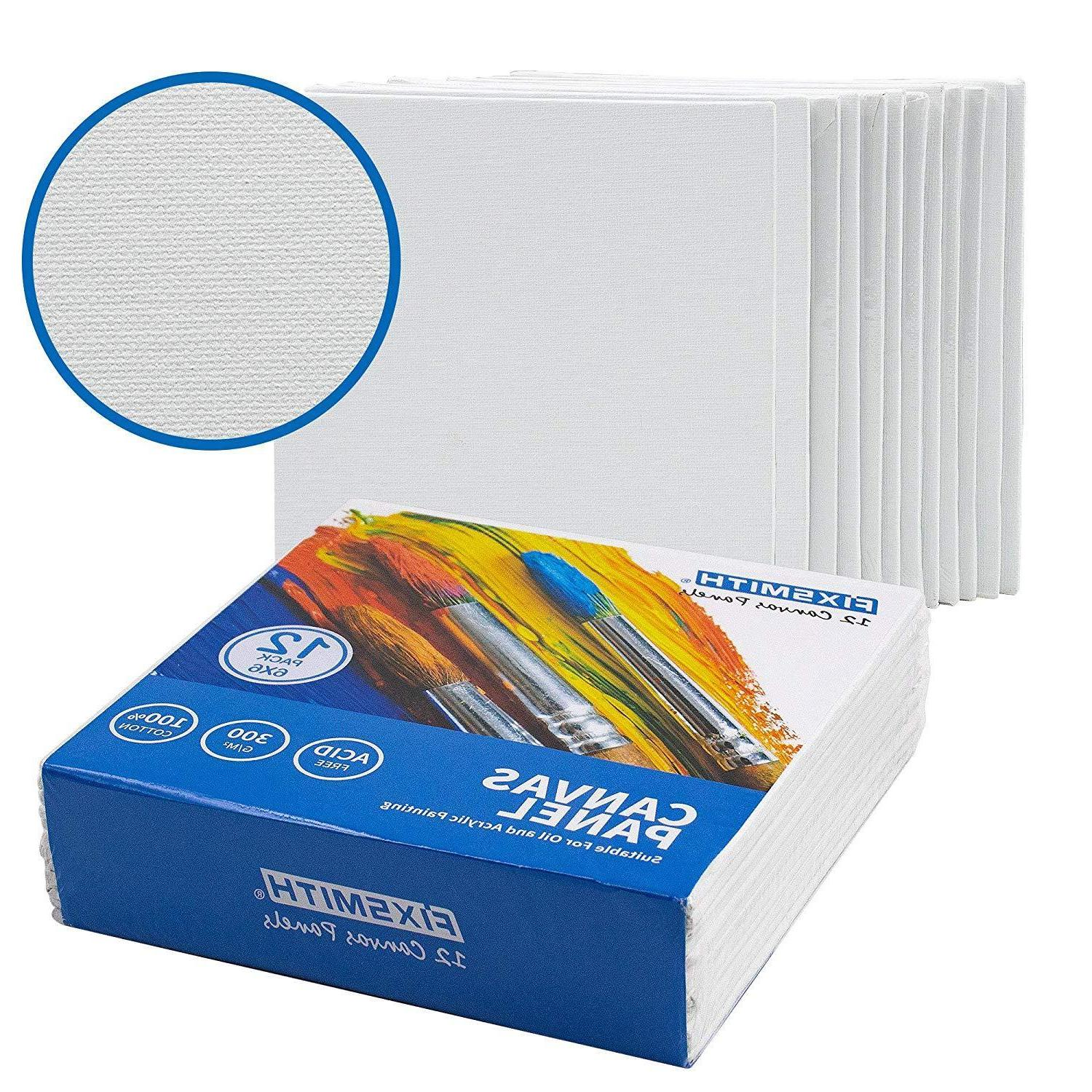 Artist Painting Canvas Boards,12 Cotton,Primed,Acid