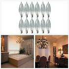 Candle Light Bulb Crystal Clear 12 Pack For Chandeliers Ceil