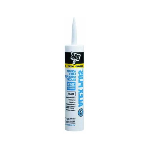 Dap Caulk Acrylic Crystal Clear Paintable 10.1 Oz