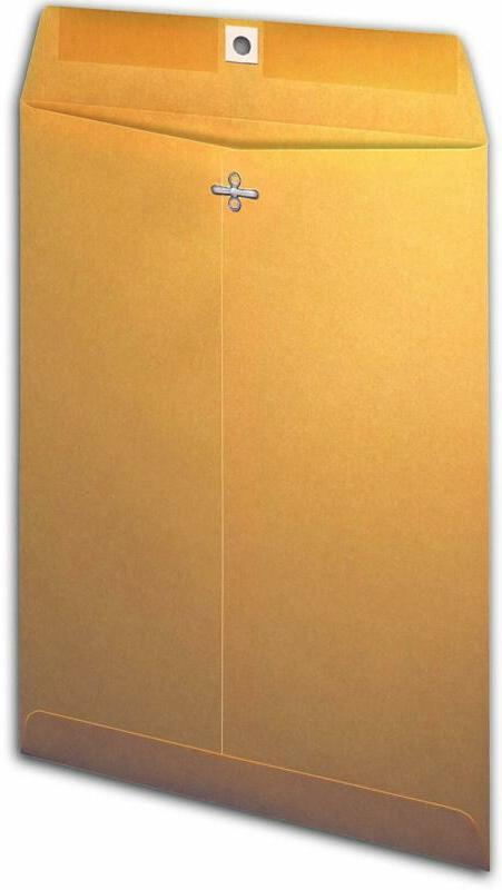 clasp envelope brown kraft 9 x 12