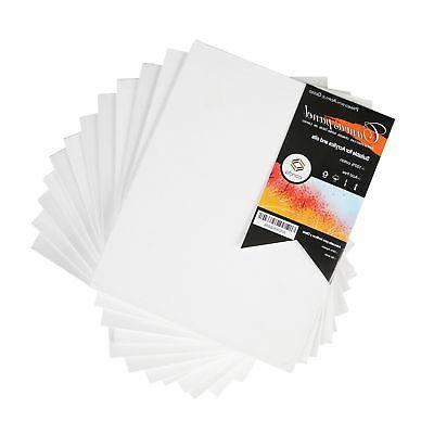 CONDA 8 x 10 inch Canvas Panels Pack of 12 Artist Quality Ac