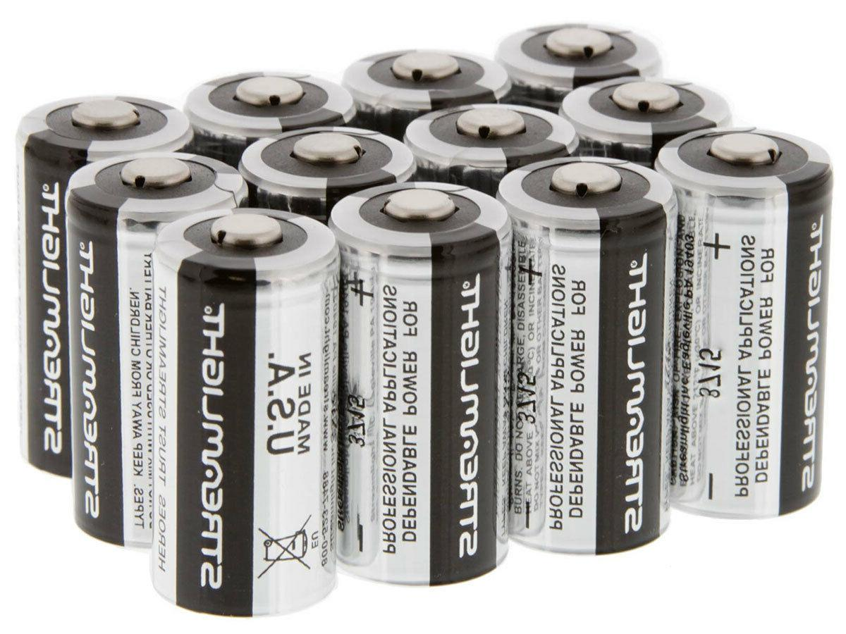 cr123a 3v lithium batteries 12 pack