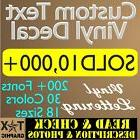 CUSTOM Vinyl Lettering Decal  Personalized  Window Text  Nam