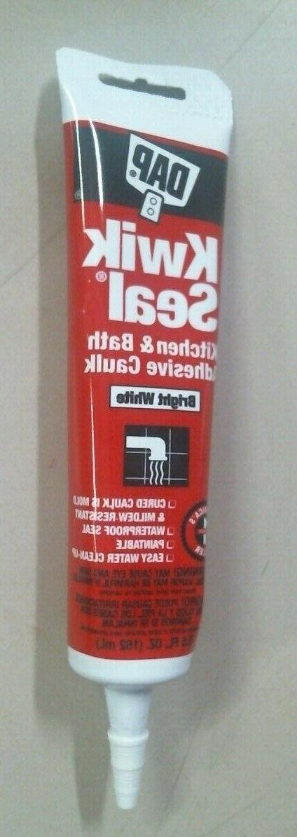 Dap Tub And Tile Adhesive Caulk White Paintable 5.5 Oz Pack
