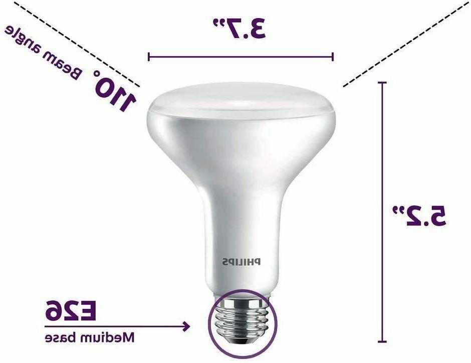 Philips Flood Bulb Equiv 65W Indoor BR30 Long Dimmable -