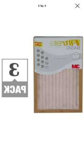 filtrete basic white pleated air furnace filter