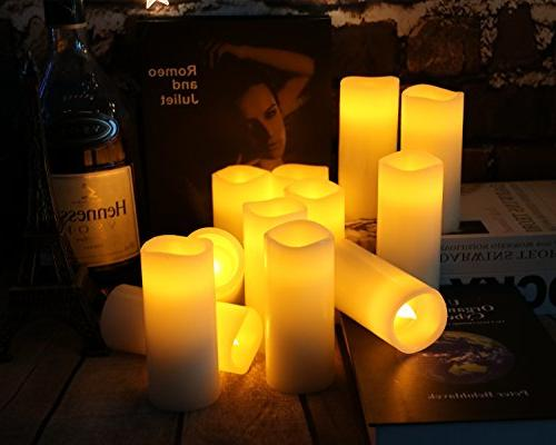 flameless candles ivory operated