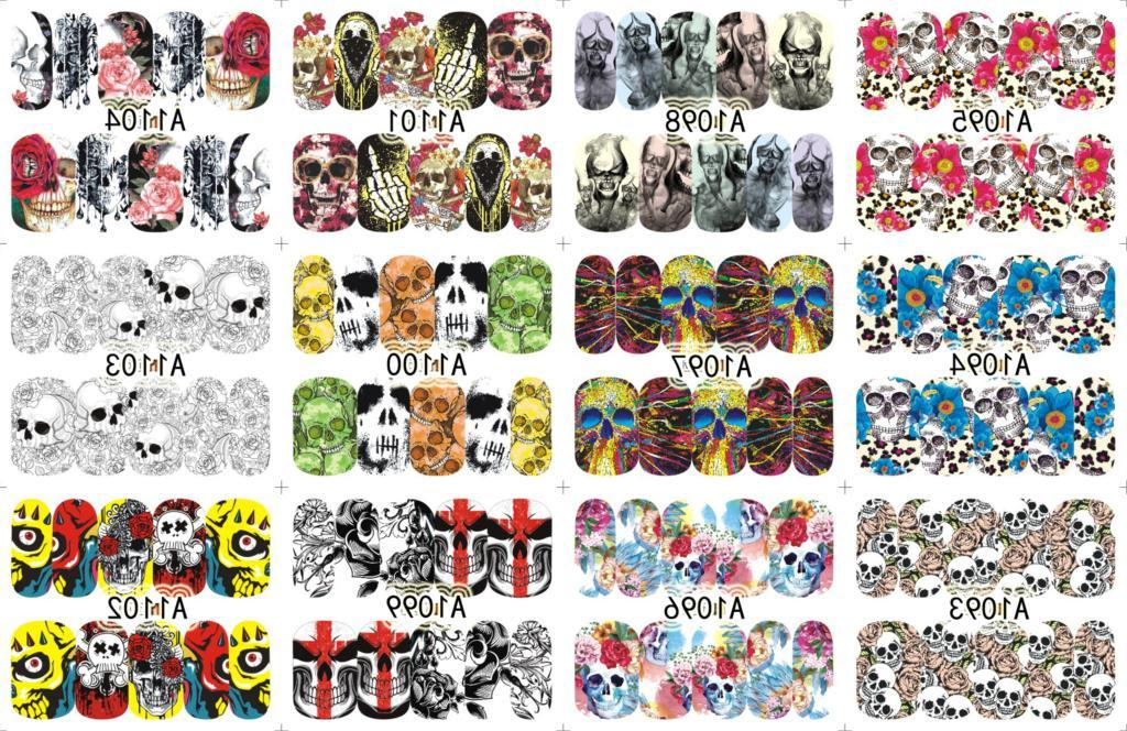 <font><b>12</b></font> <font><b>PACKS</b></font>/LOT ART COVER WATER DECALS NAIL ART STICKER