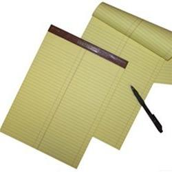 Litigation Ruled Canary Letter Size Legal Pads, 12 pads per