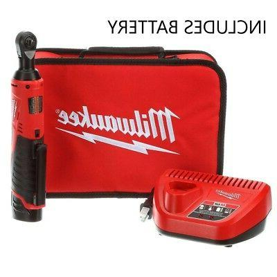 NEW Milwaukee M12 2457-21 12-Volt Cordless 3/8 in. Ratchet K