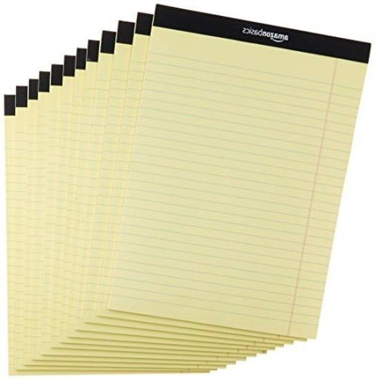 Note Pads 12 pack Wide Ruled 8-1/2 x 11 Legal Letter Canary