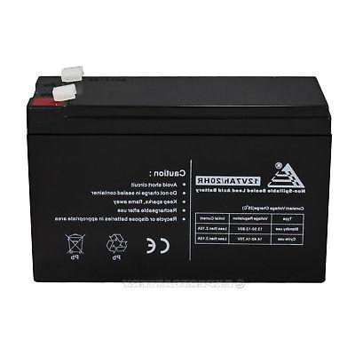 PACK 2 12 VOLT AH BATTERY FOR MIGHTY NP7-12 12V