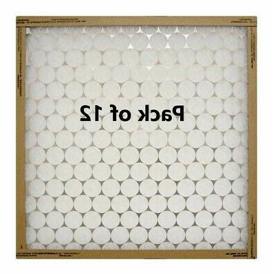 """12 Pack Protect Plus 114141 14"""" x 14"""" x 1"""" Disposable Flat P"""