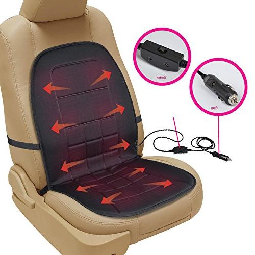 BDK Warmer-Heated Seat Padded Thermal Release SUV Office