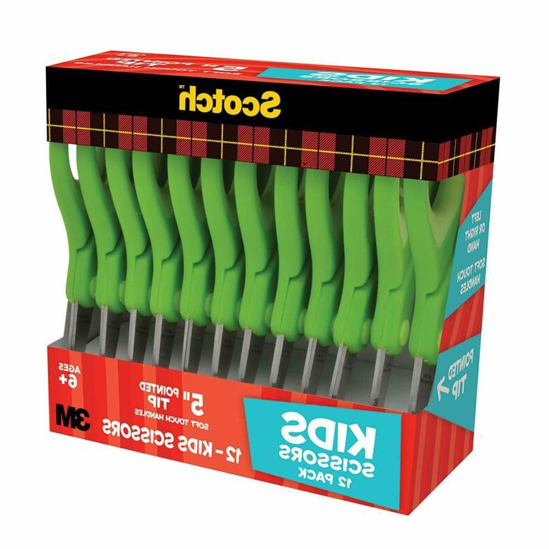 Scotch 5-Inch Touch Pointed Scissors, Count Teacher Pack, Green