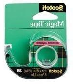 Scotch Magic Tape 3/4 In. W X 300 In. L Yellow