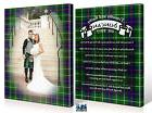 SCOTTISH WEDDING Premium Wrapped Canvas 2 PACK PRINT YOUR OW