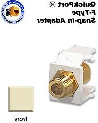 Snap In Gold F Connector Jack Ivory