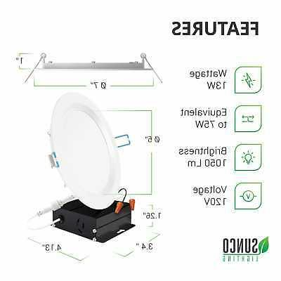 Sunco 12 Inch Slim LED with Junction 5000K 850lm