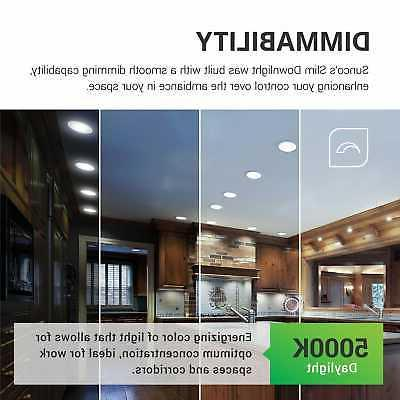 Sunco Inch LED with Junction Box 5000K