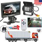 "7"" TFT-LCD Rear View Monitors +Reverse Backup Camera Kit Nig"