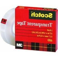 Scotch Transparent Tape, 1/2 x 1296 Inches, Boxed