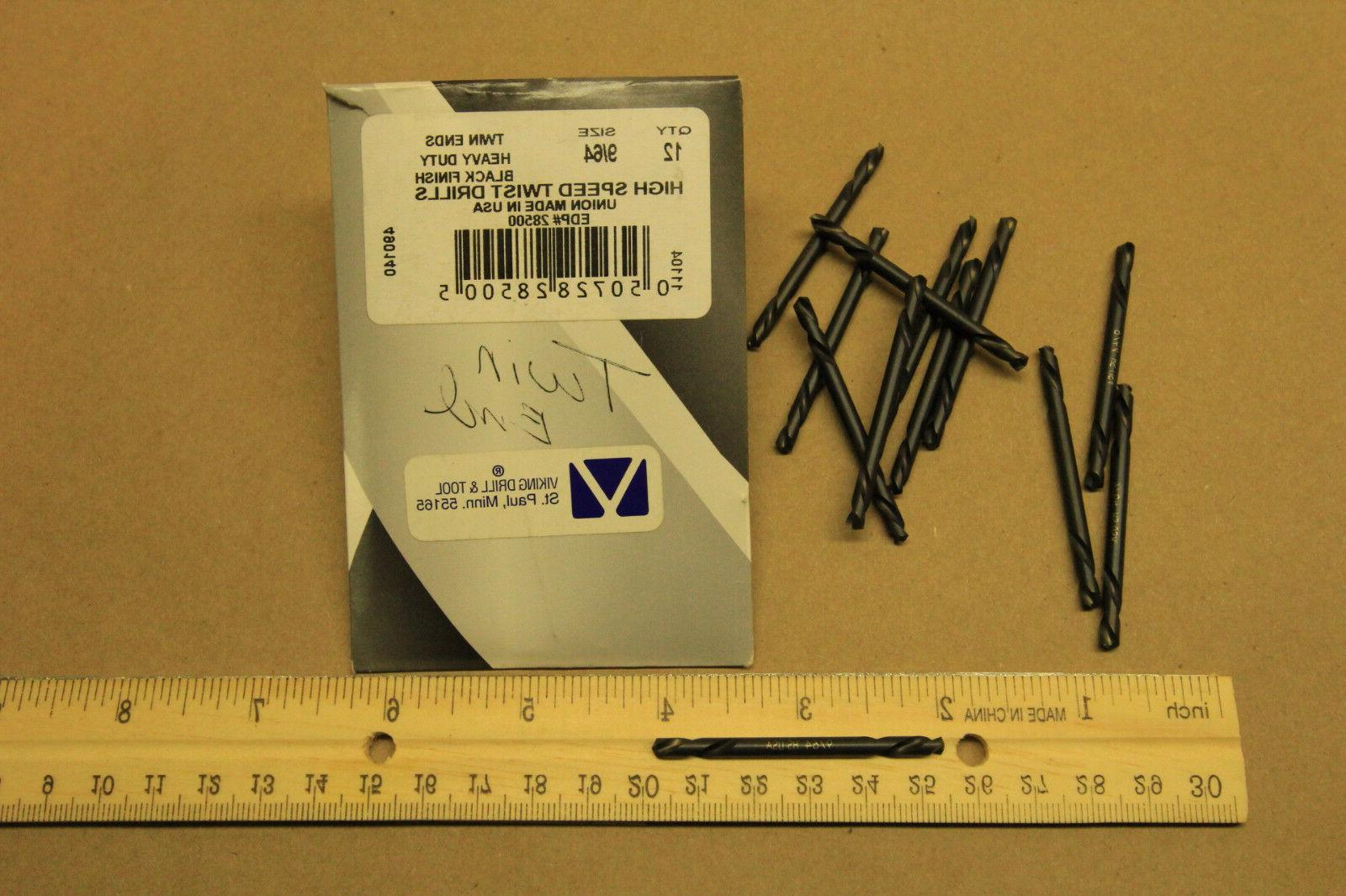 """Twin Inch Heavy Drill Bit Pack of Bits 9/64"""" in"""