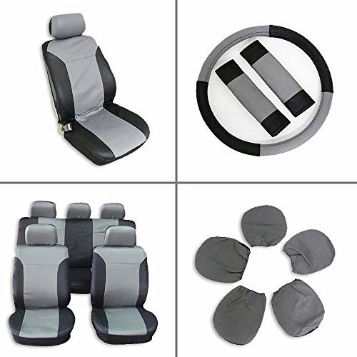 universal car seat cover w headrest steering