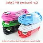 12 x Pack 10 FT 3 meter USB Data Sync Charger Cable Cord for