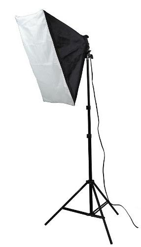 ePhoto VL9004S3 2400 Photo Studio Kit with with 3 Lightstands with 16x24-Inches Softboxes and 12 45W 5500k Bulbs