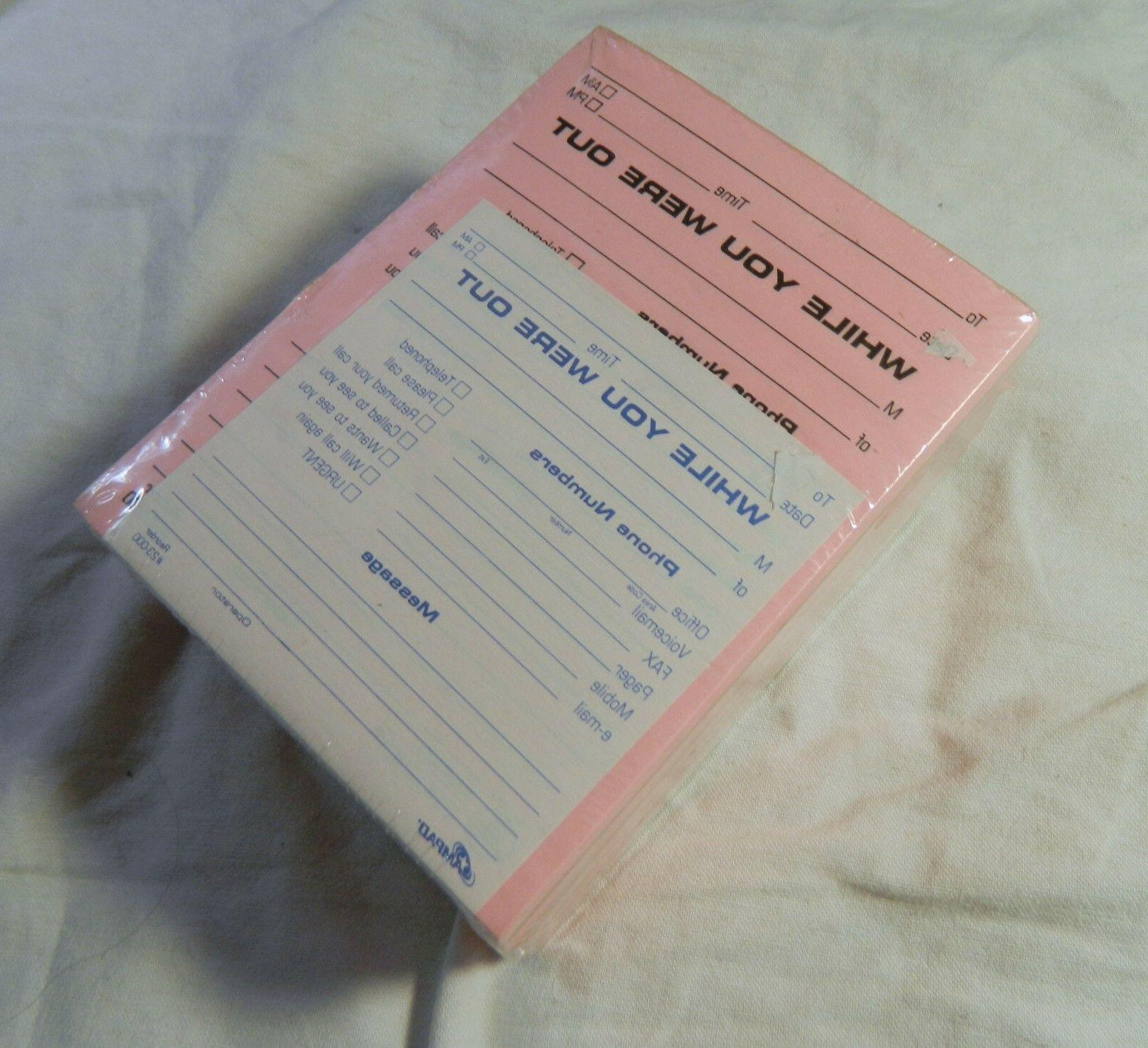 "AMPAD WHILE WERE OUT Pack of 12 Note Pads 4"" 5.25"" Pink Each"