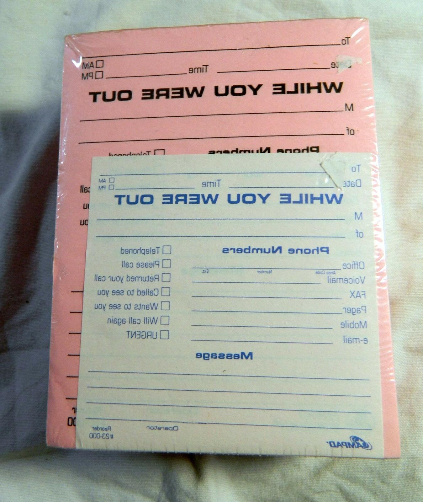 """AMPAD WHILE OUT of Note x 5.25"""" Pink 50 Sheets Each"""