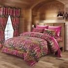 The Woods Queen Hot Pink Camo 7 Piece Bedding Set Comforter