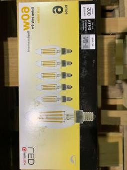 Utilitech LED 12 pack 60W CANDELABRA SOFT WHITE DIMMABLE bul