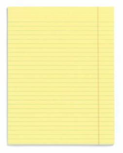 legal ruled canary glue top writing pads