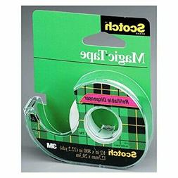 Scotch Magic Tape with Dispenser, 1/2 x 800 Inches