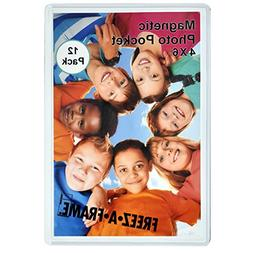 12 Pack 4 x 6 Magnetic Picture Frames Holds 4 x 6 Inches Pho